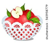 plastic lace dish filled with... | Shutterstock .eps vector #565958779