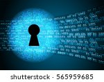 safety concept  closed padlock... | Shutterstock .eps vector #565959685
