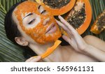 beautiful caucasian woman... | Shutterstock . vector #565961131