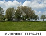 Farm Landscape Green Blue Sky...