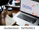 digital community digital... | Shutterstock . vector #565965811