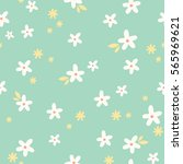 cute floral pattern. simple... | Shutterstock .eps vector #565969621