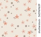 vintage tiny floral vector... | Shutterstock .eps vector #565969639