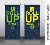 roll up brochure flyer banner... | Shutterstock .eps vector #565971385