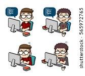 vector programmer characters...   Shutterstock .eps vector #565972765