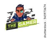 gamer logo  hardcore gamer... | Shutterstock .eps vector #565973674