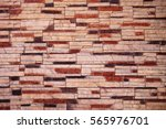 medley colored stone brick wall ... | Shutterstock . vector #565976701