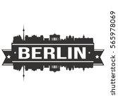 berlin skyline stamp silhouette ...   Shutterstock .eps vector #565978069