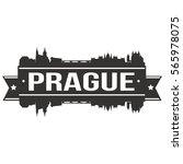 prague skyline stamp silhouette ... | Shutterstock .eps vector #565978075