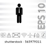 businessman icon.   | Shutterstock .eps vector #565979311