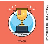 award vector icon | Shutterstock .eps vector #565979527