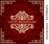 invitation vintage card. golden ...   Shutterstock .eps vector #565980691