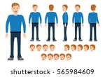 male construction for different ... | Shutterstock .eps vector #565984609