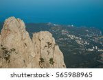 view of the southern coast of... | Shutterstock . vector #565988965
