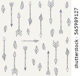 tribal arrows pattern  ethnic... | Shutterstock .eps vector #565989127