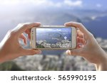 photo camera of a smartphone.... | Shutterstock . vector #565990195