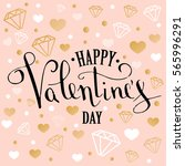 valentine's day greeting card... | Shutterstock .eps vector #565996291