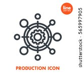 production icon  linear... | Shutterstock .eps vector #565997905