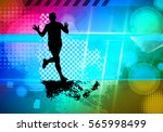 marathon  sport illustration ... | Shutterstock .eps vector #565998499