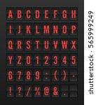 airport mechanical flip board... | Shutterstock .eps vector #565999249