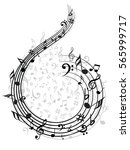 music note background | Shutterstock .eps vector #565999717