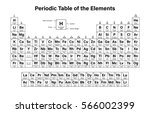 periodic table of the elements... | Shutterstock .eps vector #566002399