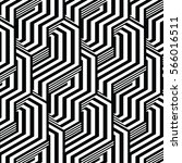black and white pattern... | Shutterstock .eps vector #566016511