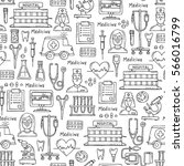 vector seamless pattern with... | Shutterstock .eps vector #566016799