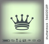 pictograph of crown | Shutterstock .eps vector #566020189