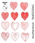 hearts doodle   Shutterstock .eps vector #566022061