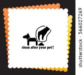 clean after pet  icon. vector...