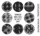 grunge circle stamps collection ... | Shutterstock .eps vector #566031631