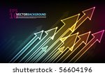 abstract vector arrows | Shutterstock .eps vector #56604196