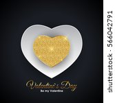valentine's day heart symbol.... | Shutterstock . vector #566042791