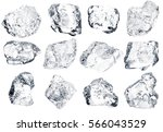 set peaces of pure natural... | Shutterstock . vector #566043529