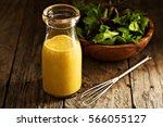 homemade honey mustard salad... | Shutterstock . vector #566055127