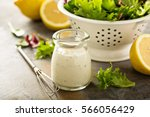 homemade lemon ranch dressing... | Shutterstock . vector #566056429