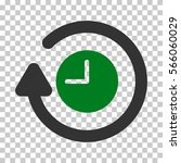 green and gray repeat clock... | Shutterstock .eps vector #566060029