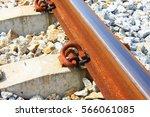 iron rusty train railway detail ... | Shutterstock . vector #566061085