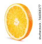 orange slice isolated on the... | Shutterstock . vector #566068177