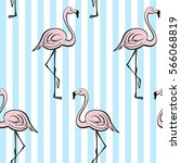 seamless pattern with pink... | Shutterstock .eps vector #566068819