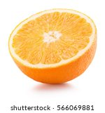 half of orange isolated on the... | Shutterstock . vector #566069881