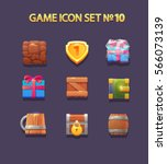 set of icon for the game. flat... | Shutterstock .eps vector #566073139