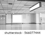 blank billboard on subway at... | Shutterstock . vector #566077444