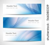 abstract header blue wave white ... | Shutterstock .eps vector #566080339