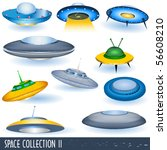 vector flying saucers | Shutterstock .eps vector #56608210