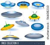 vector flying saucers | Shutterstock .eps vector #56608210