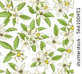 floral spring seamless pattern... | Shutterstock .eps vector #566100451