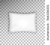 rectangle pillow on transparent ... | Shutterstock .eps vector #566106331