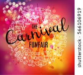 carnival vector background with ... | Shutterstock .eps vector #566106919